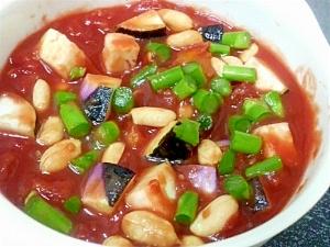 アスパラ茄子トマトスープ
