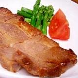 豚肉のチャーシュー風ステーキ