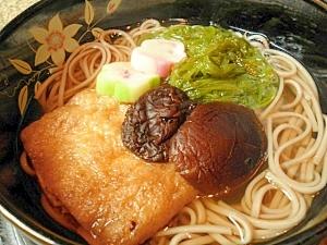 お蕎麦のトッピングにも☆油揚げ+どんこ椎茸ふくめ煮