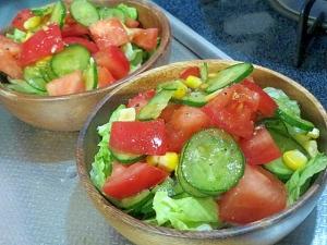 トマト きゅうり サラダ