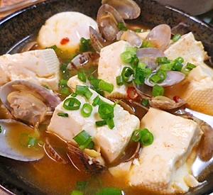 激辛あさり卵豆腐
