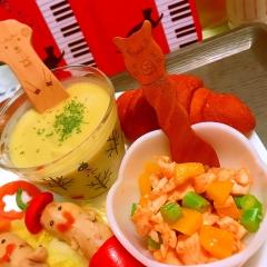 鶏ささみとパプリカの韓国風旨辛マリネ