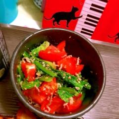 ほうれん草とトマトのイタリアン胡麻和え