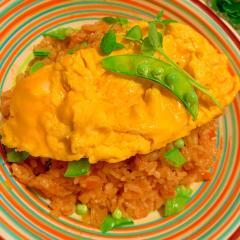 野菜カレーチーズリゾットオムライス