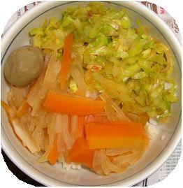 野菜の3色どんぶり
