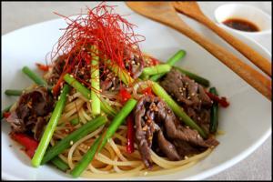 韓国風味の簡単プルコギスパゲティー!