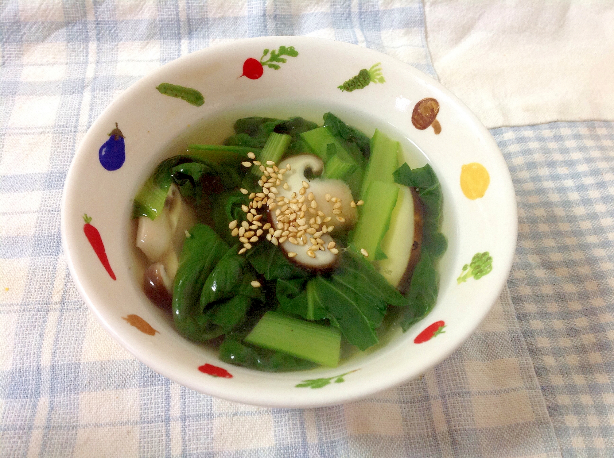 ターサイとしいたけの中華スープ(o^^o)