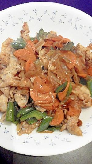 ピリカラ肉野菜炒め