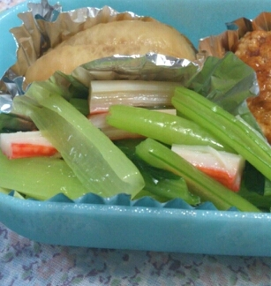 お弁当に☆小松菜とカニカマの簡単ナムル