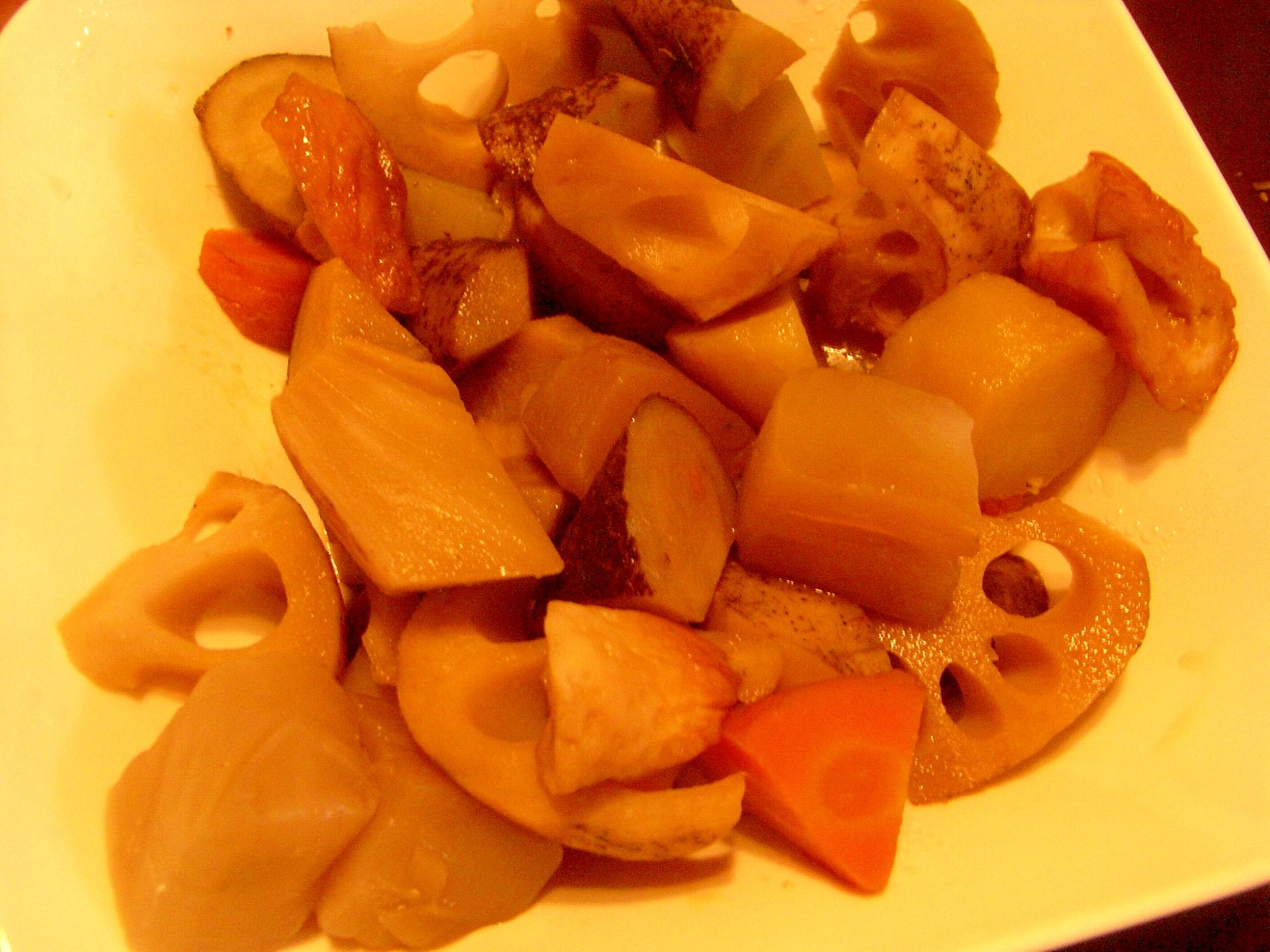 レンコンとごぼうの煮物
