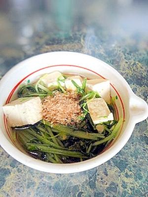 和食の副菜☆水菜と豆腐のサッと煮
