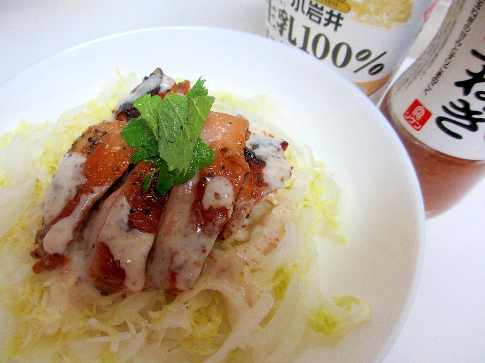 玉ねぎヨーグルト★チキンソテー、白菜丼
