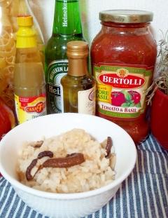 干し椎茸の簡単炊き込みご飯☆