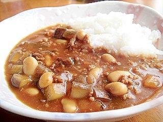 大豆と挽き肉のカレーライス