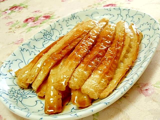 かんぴょうの代わりに竹輪の甘辛煮