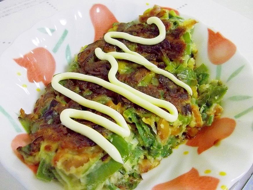 捨てないで☆長ねぎの青い部分de納豆お焼き レシピ・作り方 by へんてこぽこりんママ|楽天レシピ