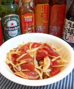 新玉葱とメバチマグロの胡麻醤油和え・玉葱激甘☆