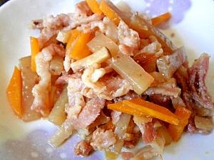 おかず・おつまみに☆カンタン豚バラ肉と蒟蒻の炒煮
