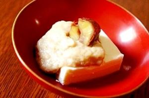 豆腐と豆乳でヘルシー和スイーツ、和栗のカスタ