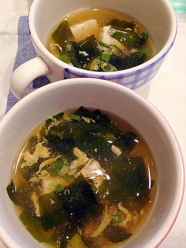 わかめたっぷり舞茸スープ