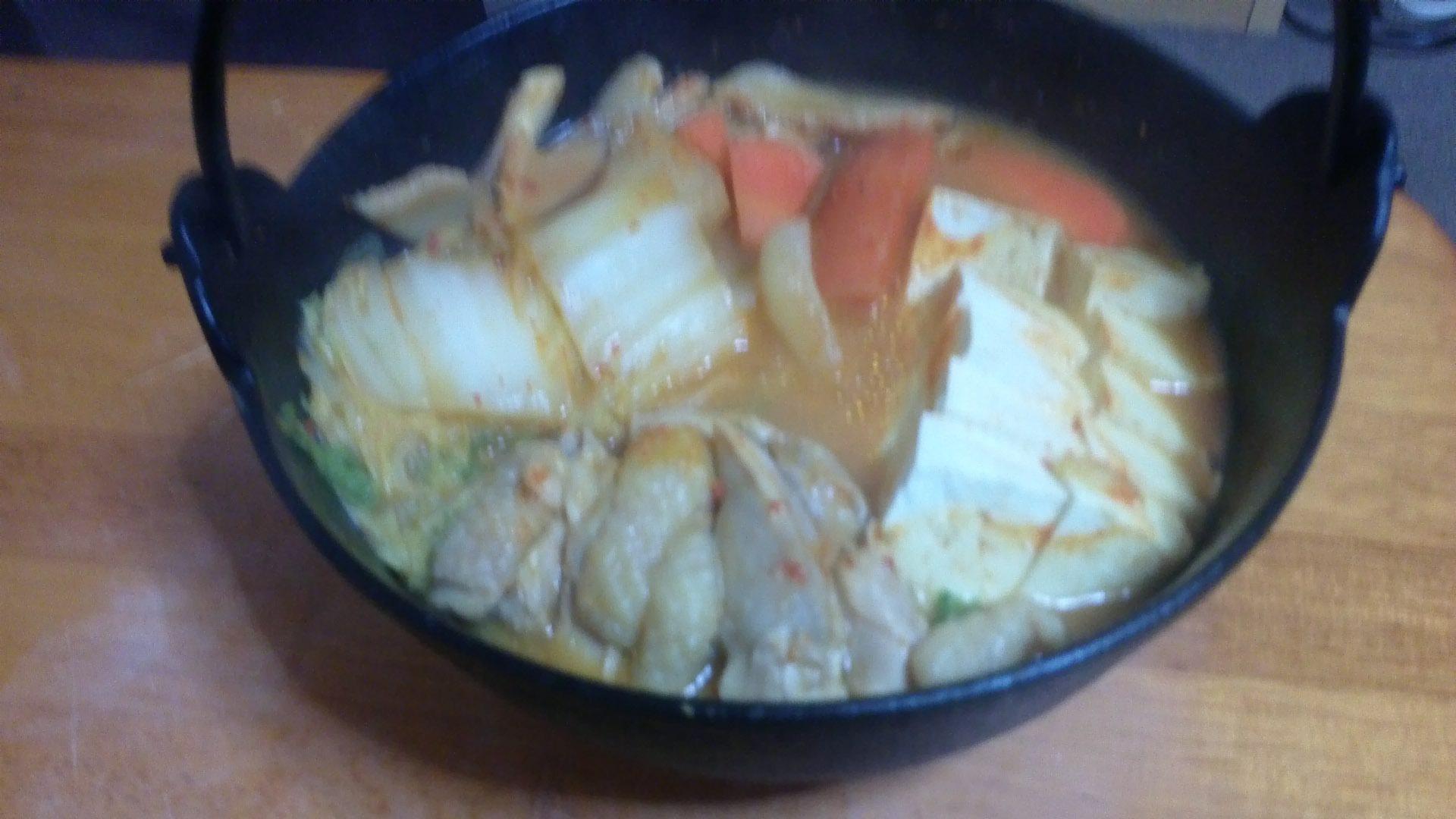 中華風ピリ辛味噌鍋