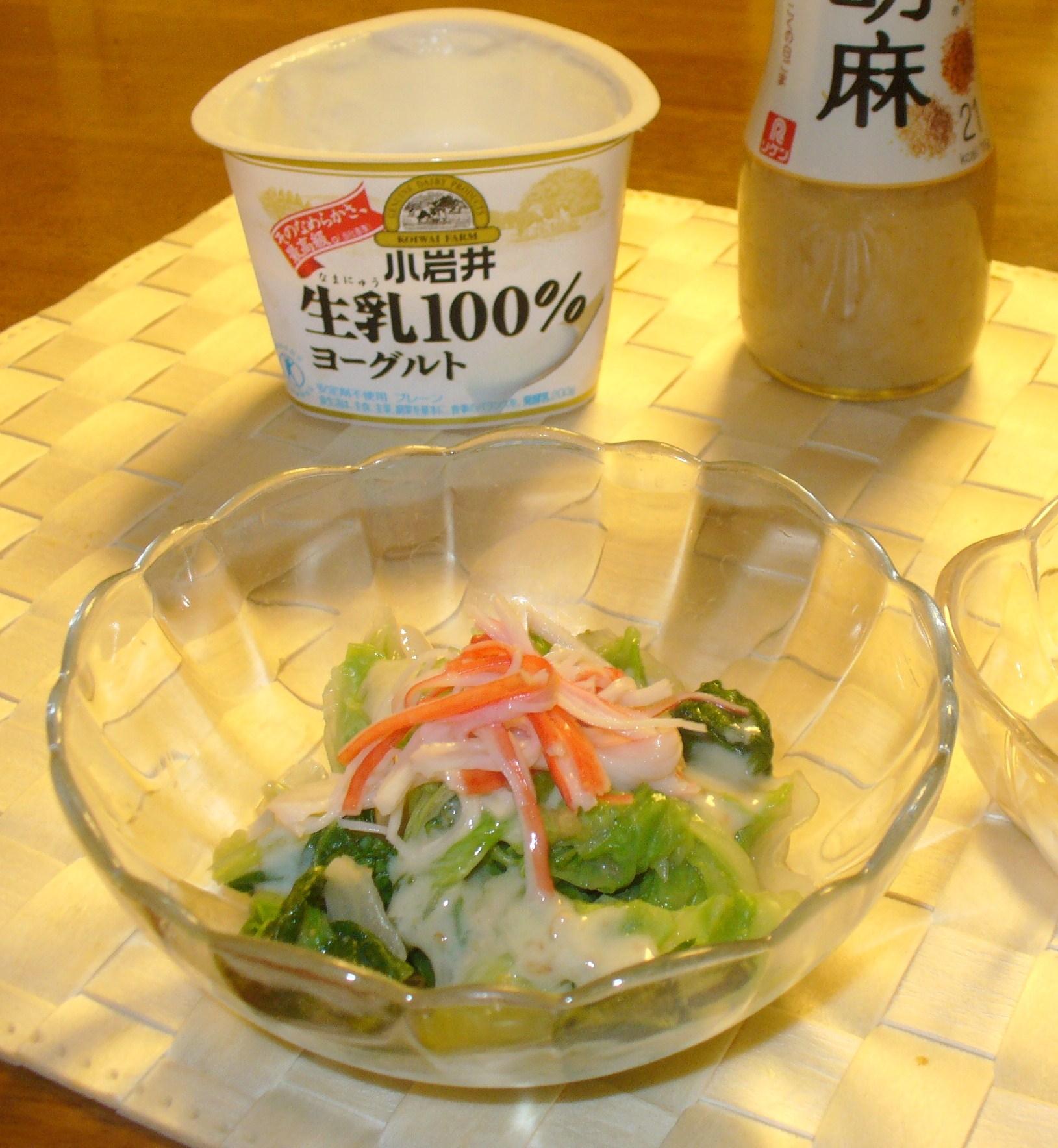 白菜のヘルシーサラダ♪ヨーグルト胡麻ドレッシング