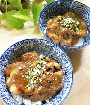 豚テキ・バージョン2/薄切りロース肉でステーキ丼