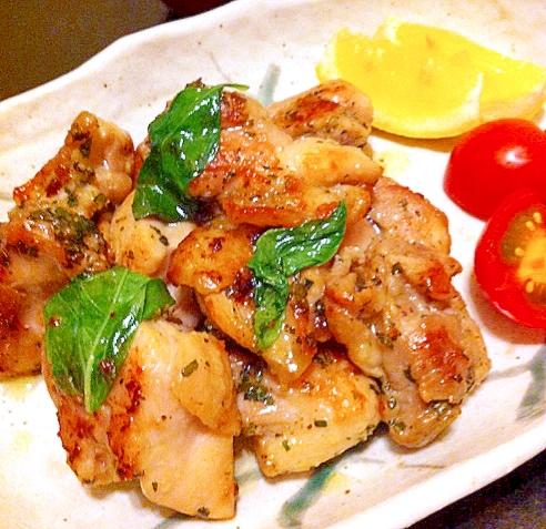 3. 塩麹バジルチキン