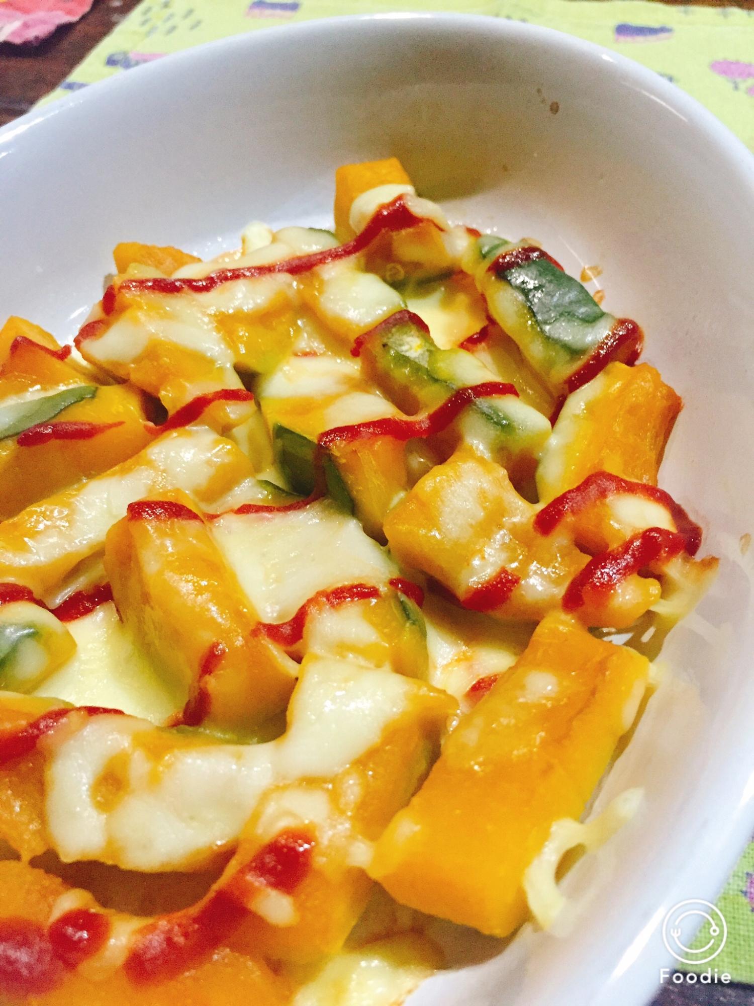 かぼちゃの煮物で かぼちゃチーズ焼き レシピ・作り方 by およねこ45|楽天レシピ
