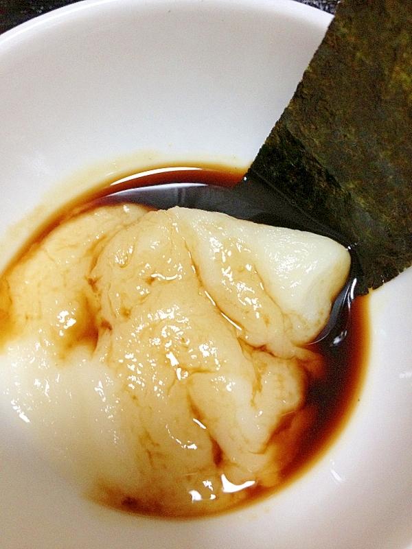 レンジで★海苔醤油餅(≧v≦●)