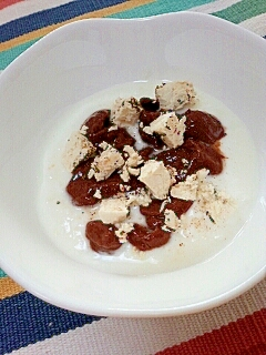 濃厚クリーミー☆チョコ&チーズのハーブヨーグルト♪
