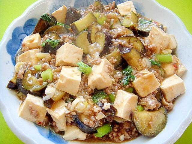 茄子と豆腐の和風マーボー