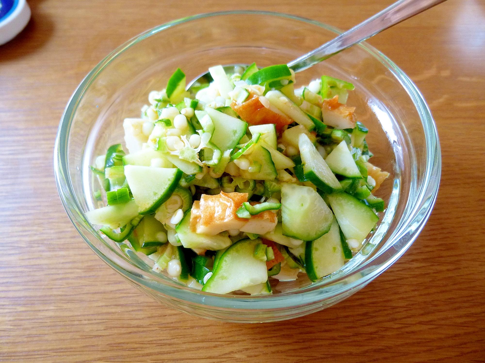 きゅうりとオクラとちくわのサラダ