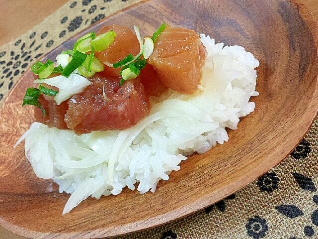 *酢たまねぎで簡単!まぐろ漬け寿司*