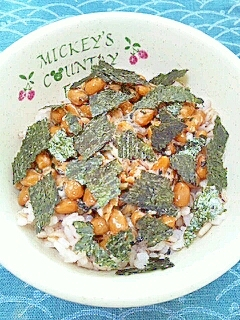 納豆の食べ方-海藻三昧♪
