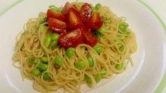 マ・マーで簡単☆枝豆ペペロンチーニ