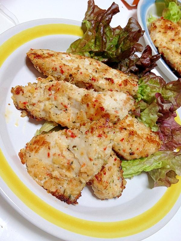 鶏胸肉でマヨネーズカツレツ