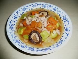 具だくさんカロリー少なめ【ミネストローネ】風スープ