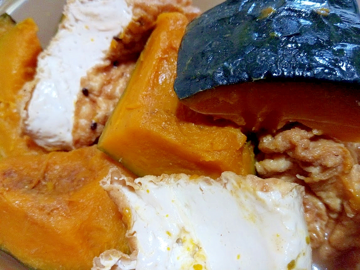 かぼちゃと厚揚げの煮物