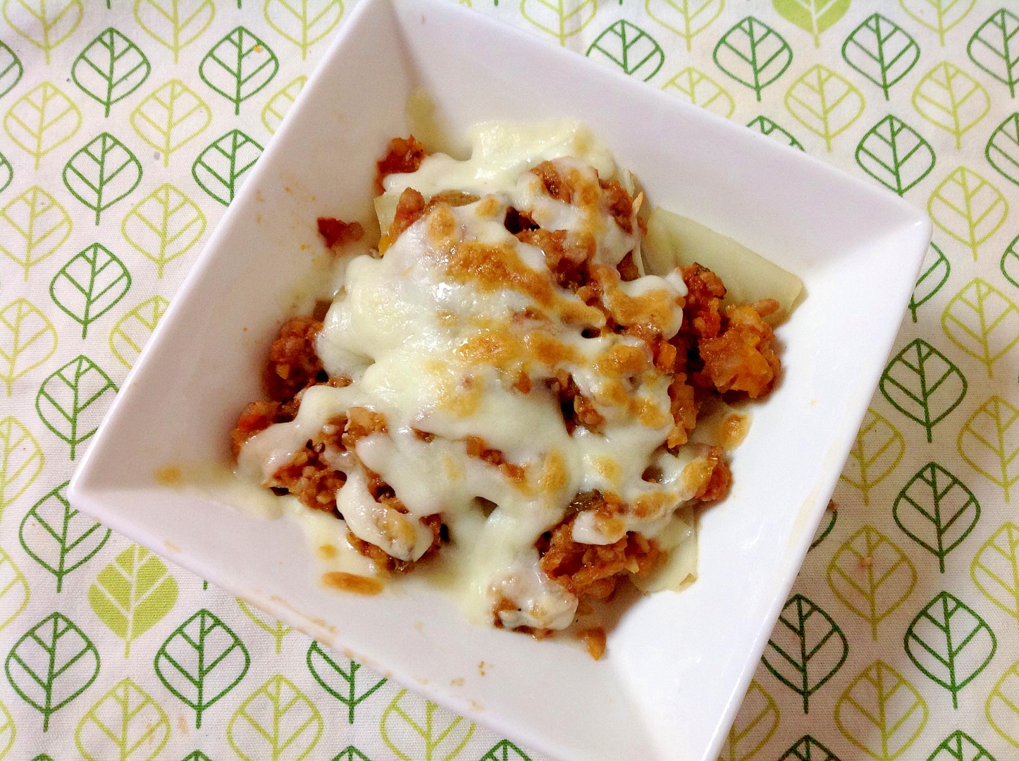 菊芋のミートソースチーズ焼き(o^^o)