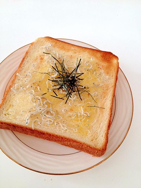 ちりめんじゃことゆず塩のトースト