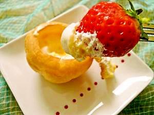 シュークリーム&苺で☆美味しい食べ方3パターン♪