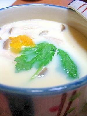 茶碗蒸しを市販のうどんスープで