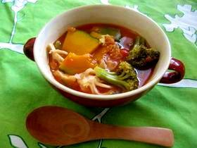 野菜たっぷり!トマトスープ★
