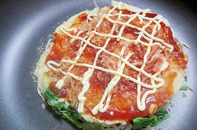 小松菜入りお好み焼き