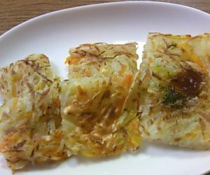 3種のソースで楽しむ残り野菜のしっとり和風ガレット