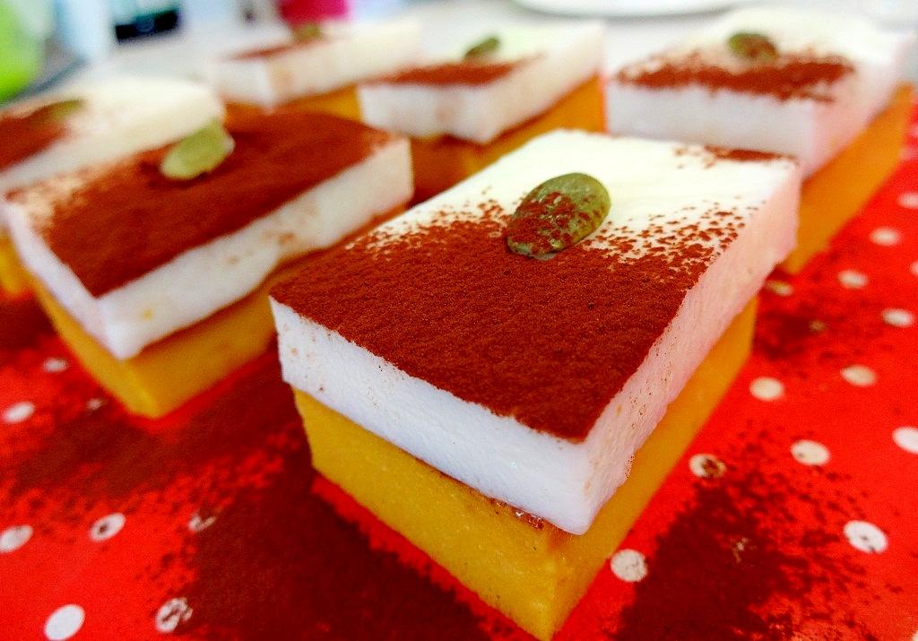 かぼちゃのダブルチーズケーキ