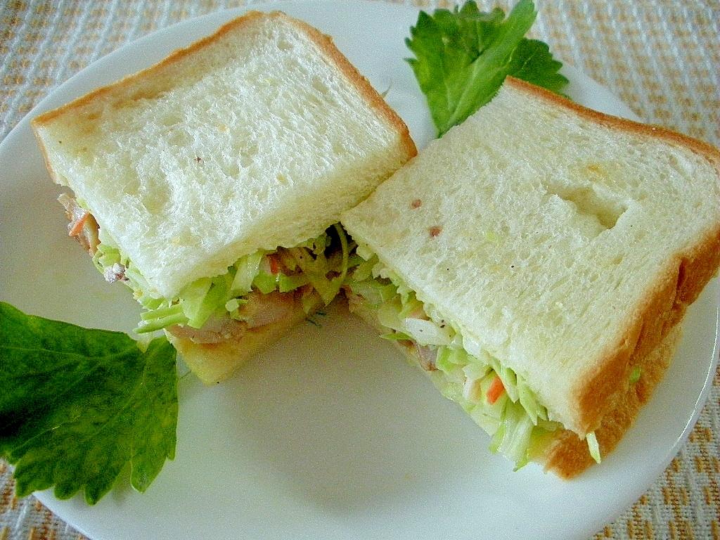 ☆チキンとコールスローのサンドイッチ☆