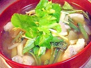 北海道の具沢山な雑煮我が家風