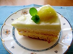 夏のケーキ!メロンババロアケーキ